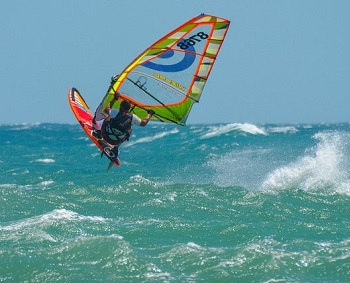 Wind Surfing in water