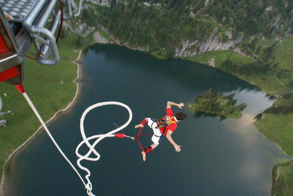 bungee jump man