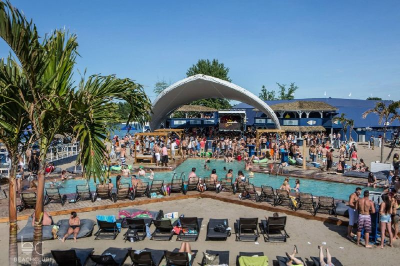 Beach club Montreal Quebec Canada