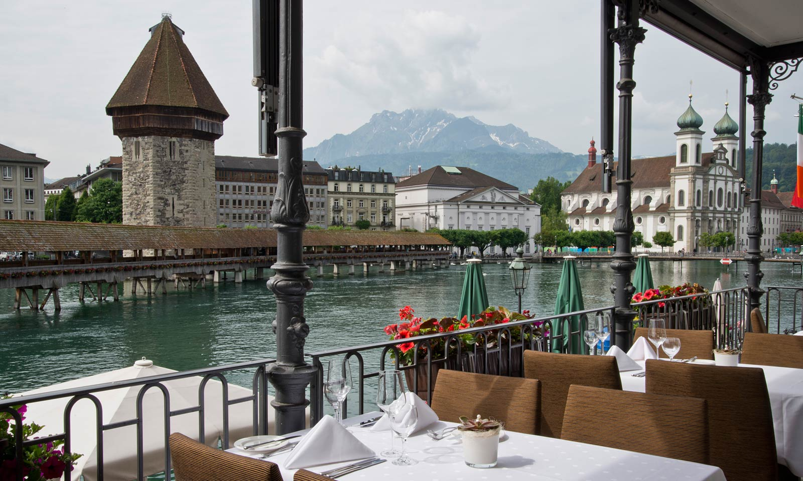 table with white napkins - things to do in Switzerland in winter