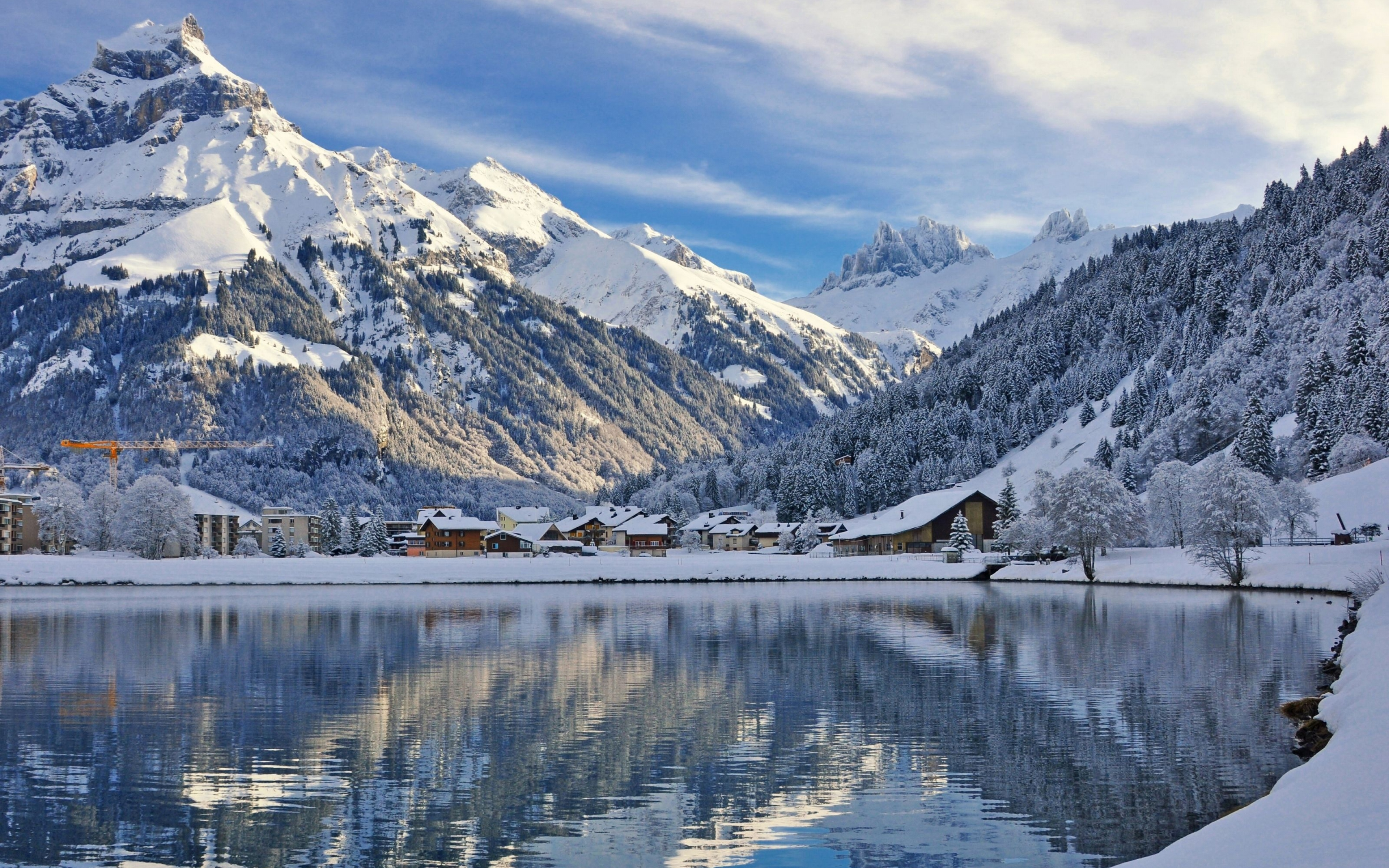 reflection in lake - things to do in Switzerland in winter
