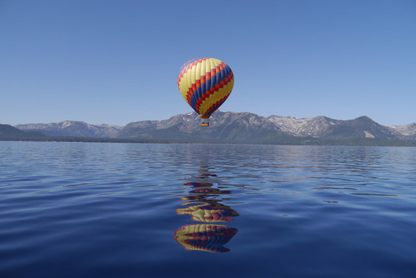 Lake Tahoe, California - Hot Air Balloon