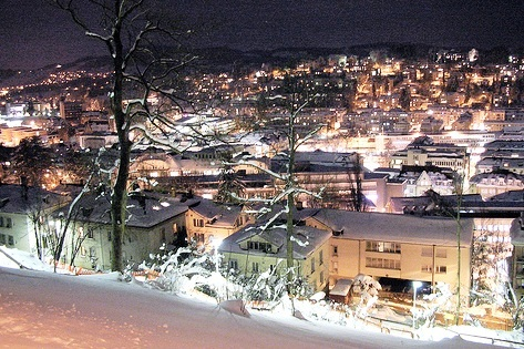 houses with lights - things to do in Switzerland in winter
