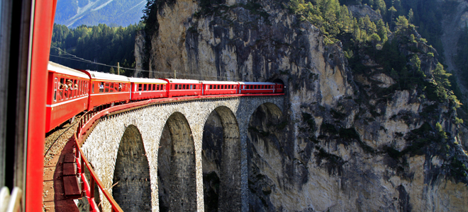 red train express - things to do in Switzerland in winter