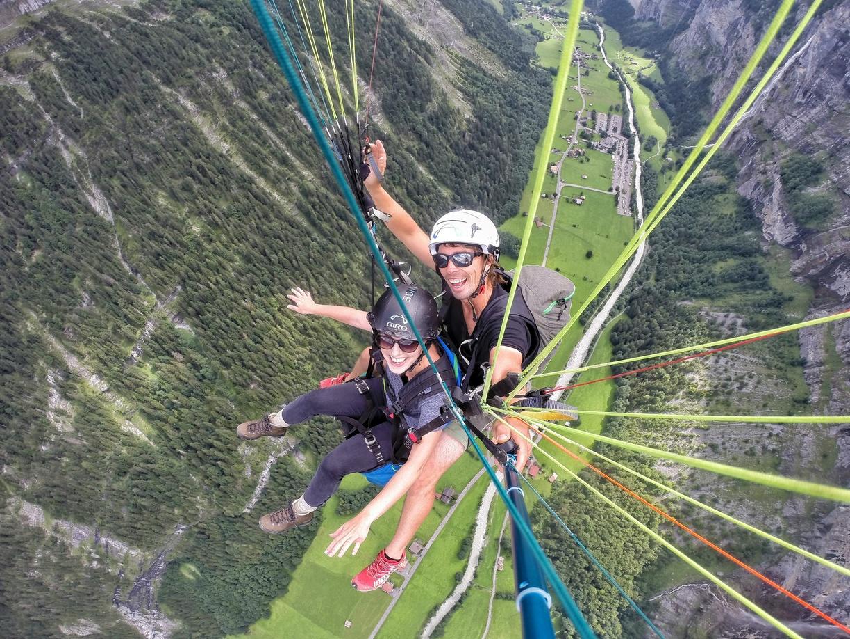 Wengen Switzerland paragliding
