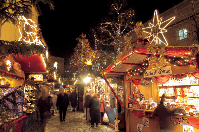 shop with christmas gifts - things to do in Switzerland in winter