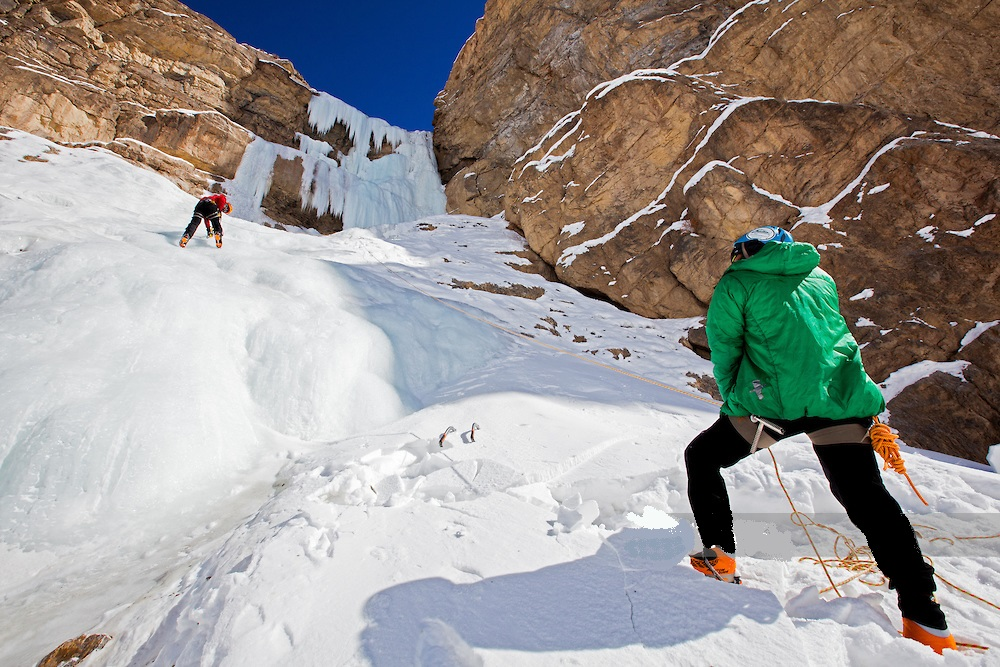 Ice climbing frozen waterfall in Spiti - things to do in India