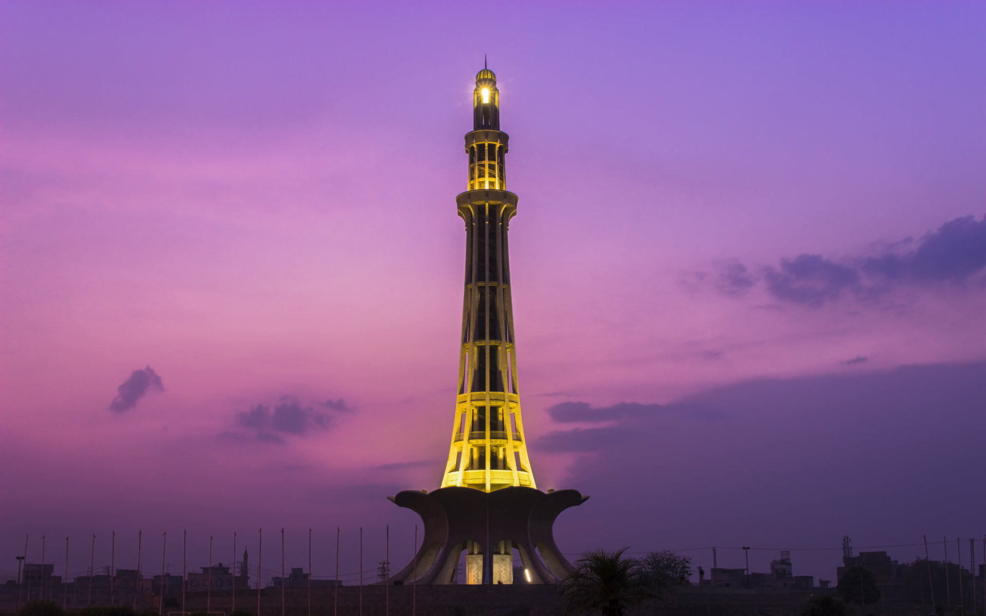 tomb with yellow light - things to do in lahore