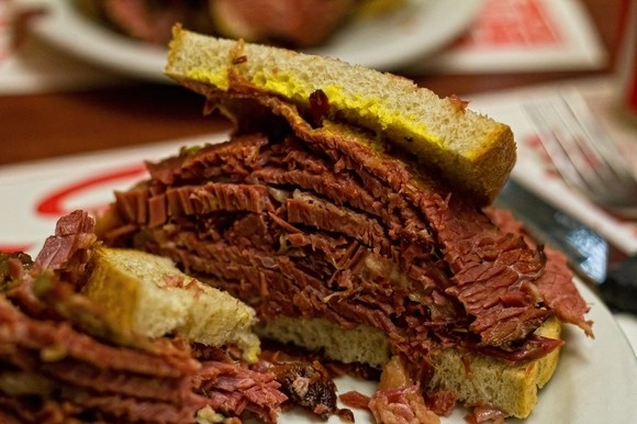 smoked meat sandwich - Montreal Quebec Canada