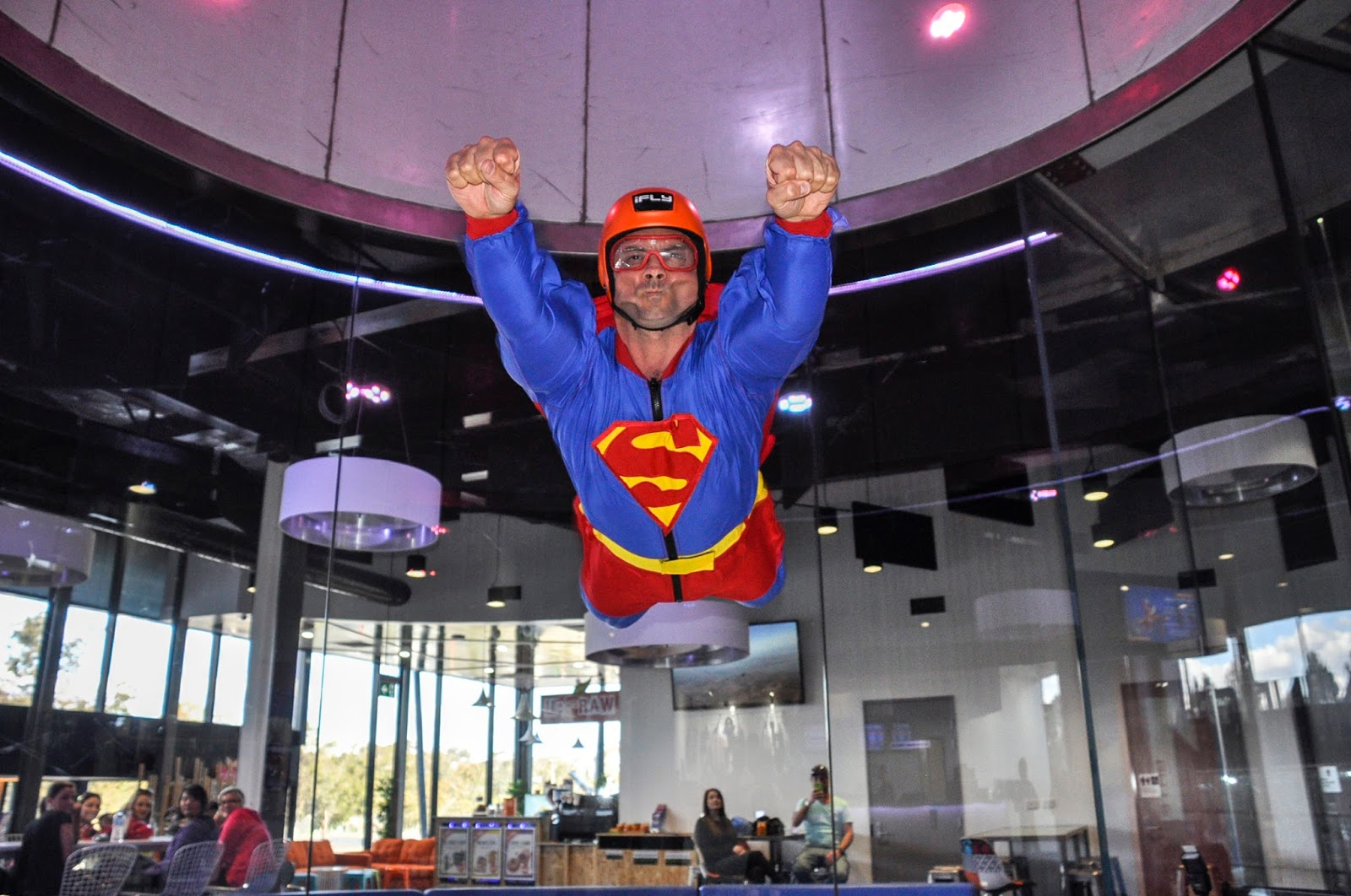 supermen dress - indoor skydiving