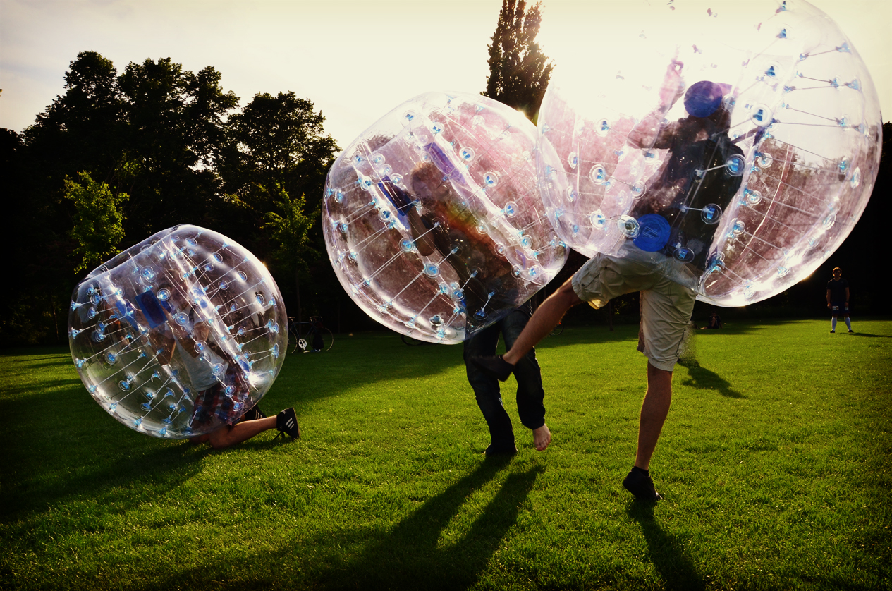 boy kicking - Body Zorbing