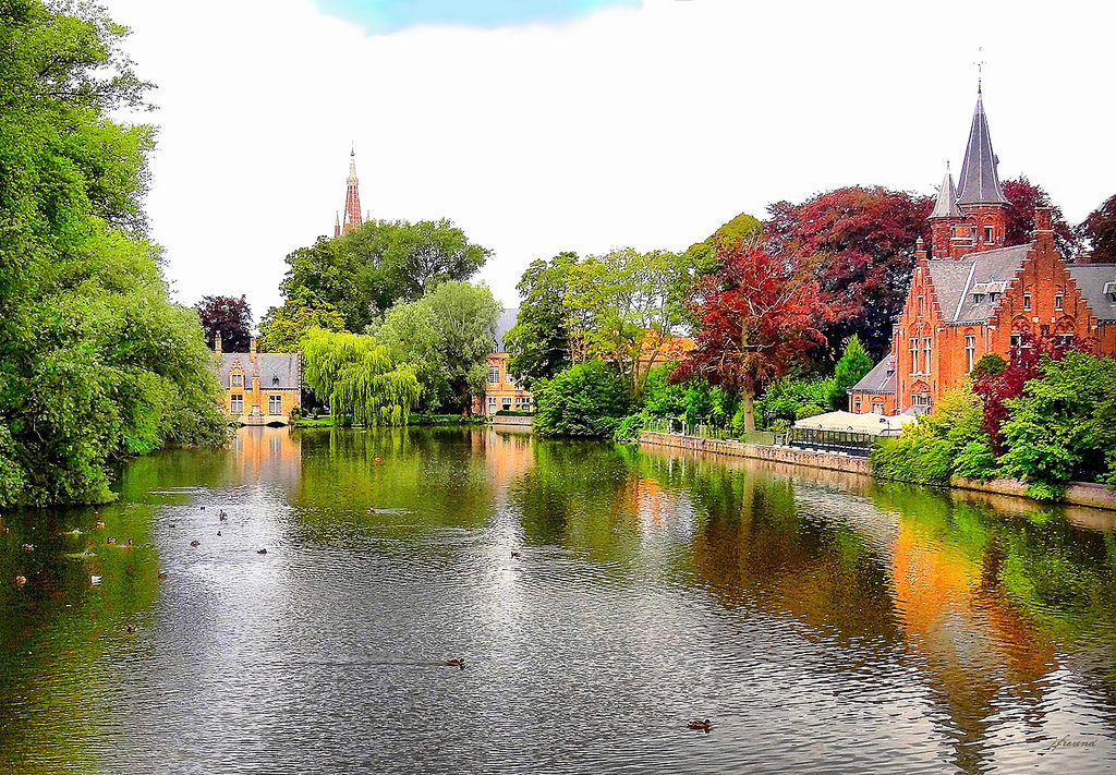 #15 of 15 Things to do in Bruges, Belgium – Visit the Minnewater Lake - Things to do in Bruges