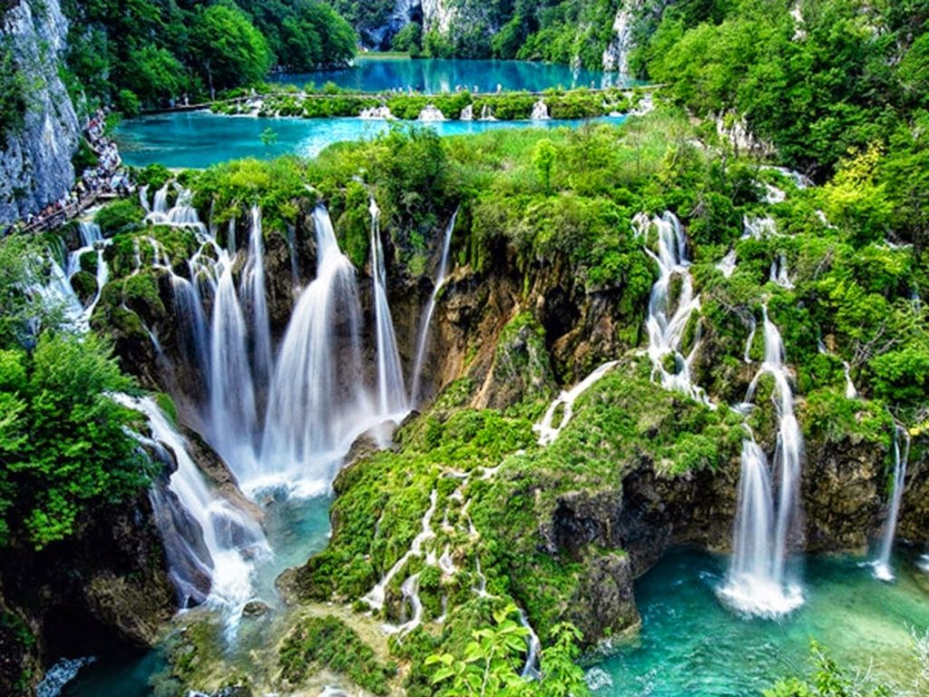# 8 of 10 in Best Waterfalls in the World – Plitvice Falls (Croatia) - Best Waterfalls in the World