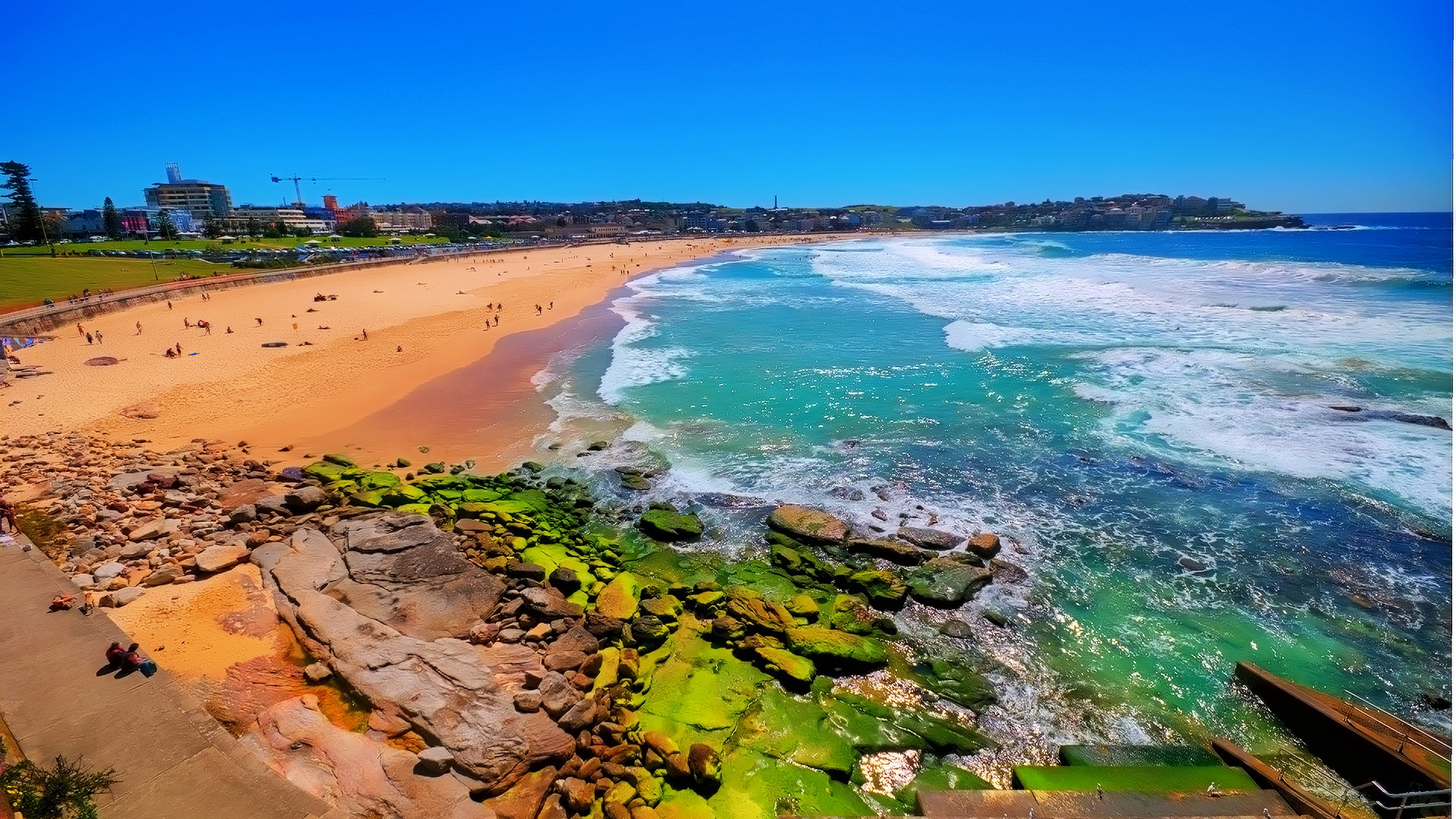 the land with green patches - things to do in Australia