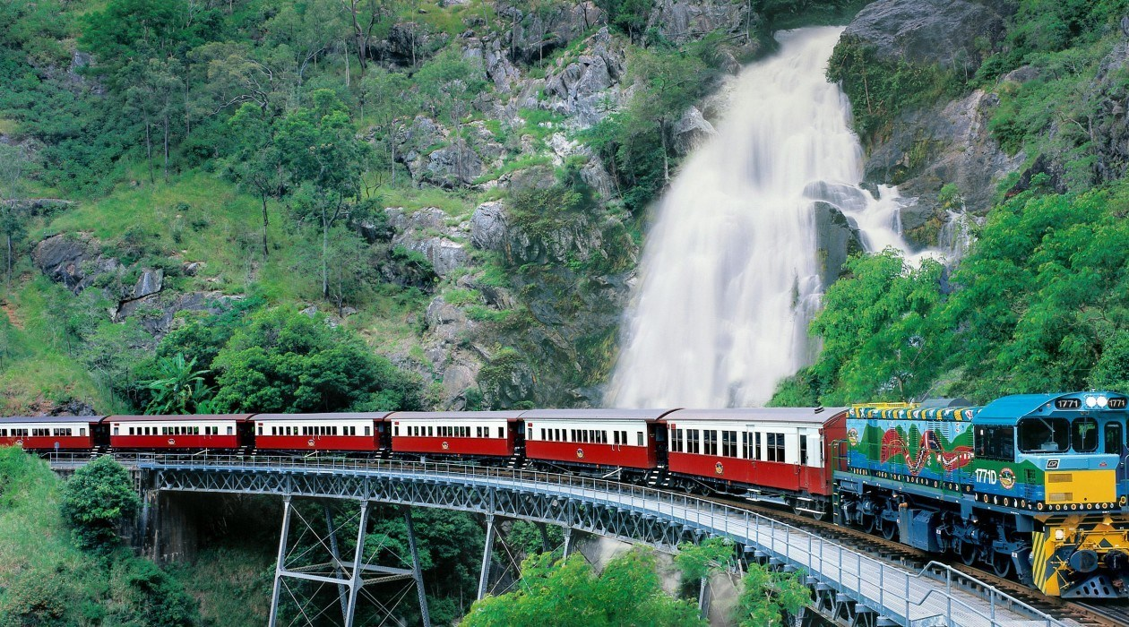 the red and blue color train - things to do in Australia