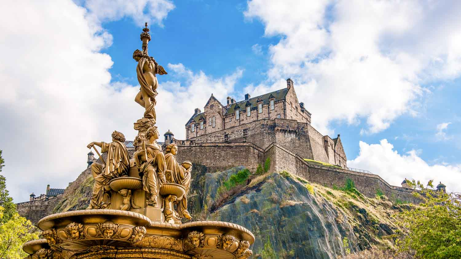 a golden statue - things to do in Scotland