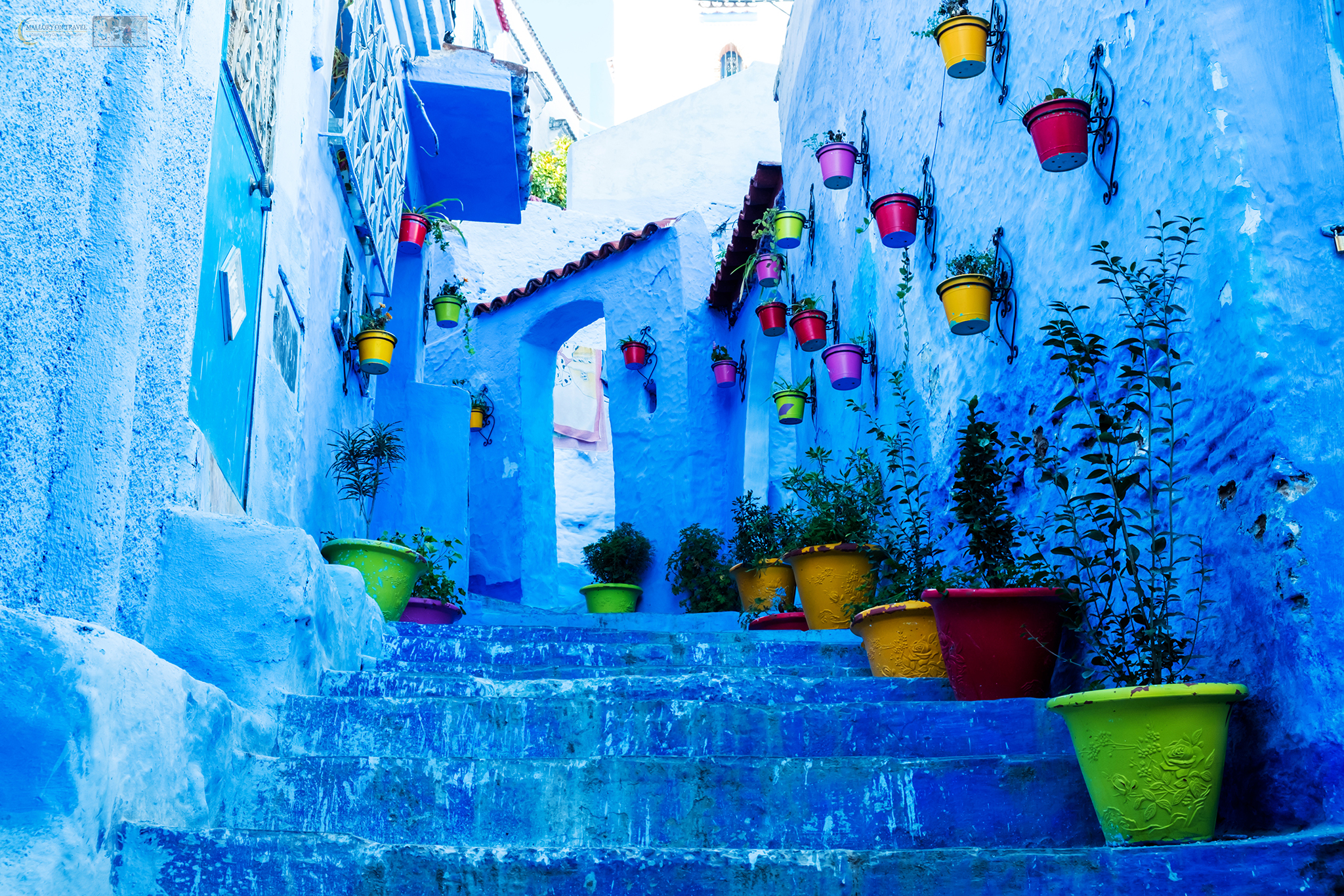 a blue wall - things to do in Morocco