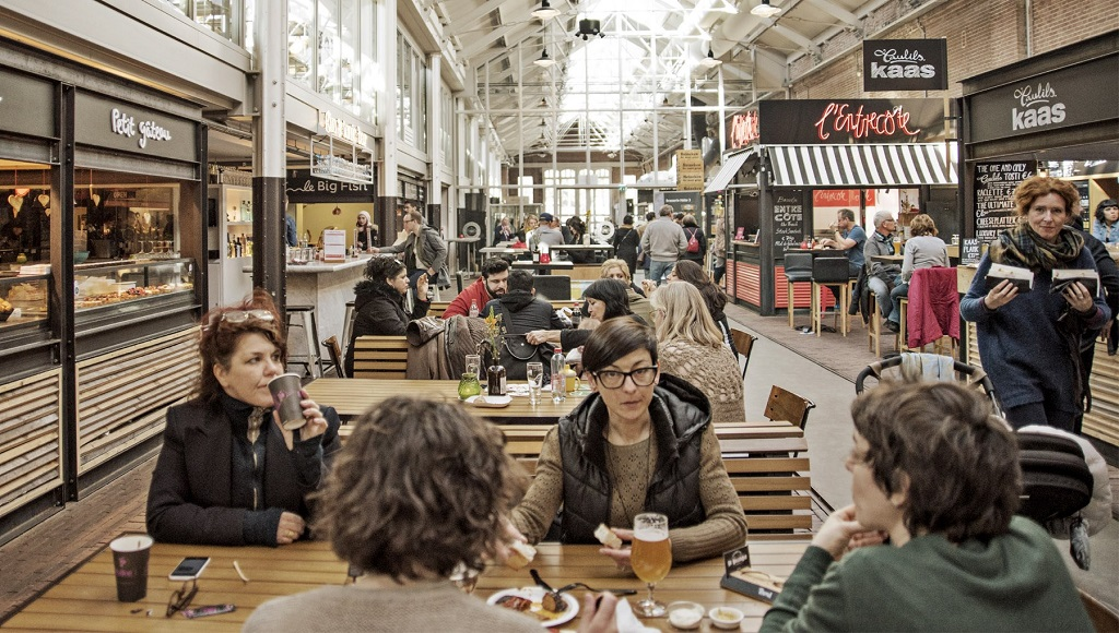 food at old tram depot, Things to do in Amsterdam