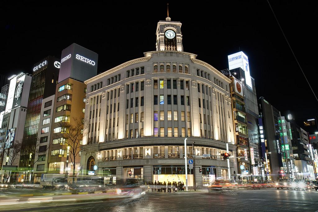 Ginza_Wako_Clock-Things to do in Tokyo