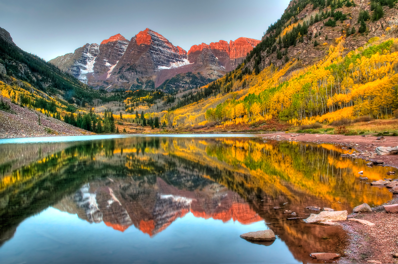 The Maroon Bells, Colorado - places to visit in the world