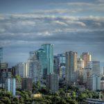 Downtown Skyline Edmonton Alberta Cityscape Canada,