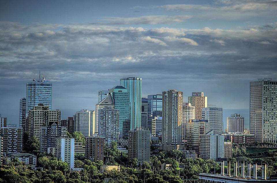 Downtown Skyline Edmonton Alberta Cityscape Canada, Things to do in Edmonton, Canada