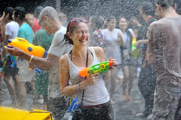 Water fight - Songkran - things to do in Bangkok
